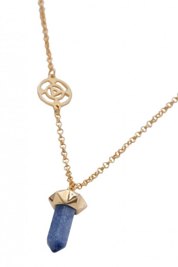 Chakra Garganta - Pedra Quartzo Azul